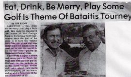 Eat, Drink, Be Merry, Play Some Golf Is Theme Of Bataitis Tourney.