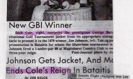 Johnson Gets Jacket. 1979.