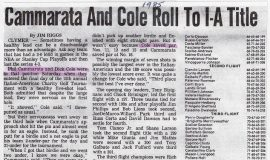 Cammarata And Cole Roll To I-A Title. 1985..