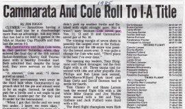 Cammarata And Cole Roll To I-A Title. 1985..