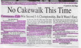 No Cakewalk This Time. Page 1. 2002.