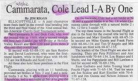 Cammarata And Cole Lead I-A By One.  2002.