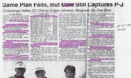 Game Plan Fails, But Cole Still Captures P-J. May 20, 1996.