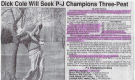 Dick Cole Will Seek P-J Champions Three-Peat. 1998.