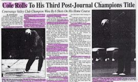Cole Rolls To His Third Post-Journal Champions Title. Page 1. May 20, 2002.