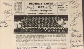 Autographed photo of World's Champions 1957 Detroit Lions.
