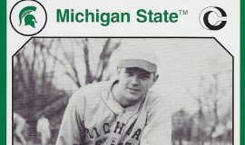 Michigan State baseball card (front).