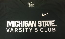 Michigan State University varsity club t-shirt - Bud was a letterman and captain of the MSU baseball team in 1948.