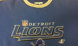 1957 Lions sweatshirt - Bud served as publicity director of the team.