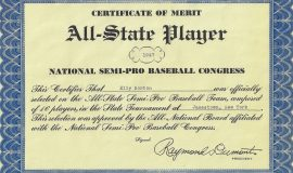 All-State Player Certificate of Merit. 1947.