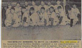 Triumphant Bombers, '54 MUNY AA Champs. 1954.