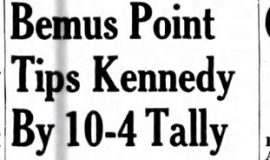 Bemus Point Tips Kennedy By 10-4 Talley. June 8, 1942.