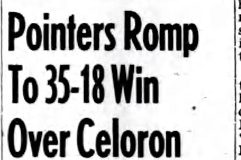 Pointers Romp To 35-18 Win Over Celoron. January 9, 1943.