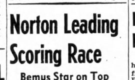 Norton Leading Scoring Race. February 15, 1946.