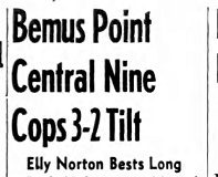 Bemus Point Central Nine Cops 3-2 Tilt. May 18, 1943.