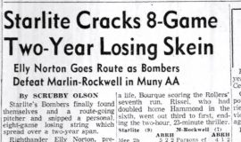 Starlite Cracks 8-Game Two-Year Losing Skein. June 1, 1957.