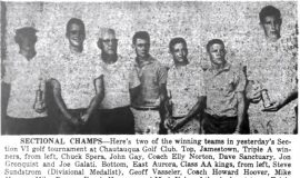 Sectional Golf Returns To Chautauqua After 13 Years; Raiders, Southwestern, Bemus Win. June 8, 1960.
