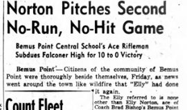 Norton Pitches Second No-Run, No-Hit Game. June 9, 1943.