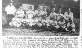 National Champions. <em>Post-Journal</em>  (Jamestown). August 14, 1958.