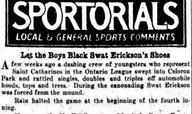 Sportorials. August 16, 1930.