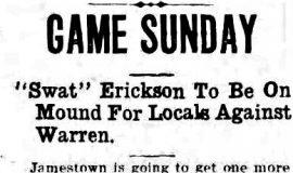 Game Sunday. October 16, 1919.
