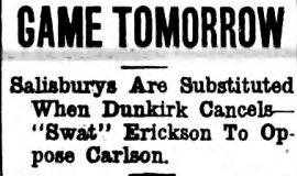 Game Tomorrow. October 18, 1919.