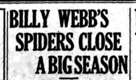 Billy Webb's Spiders Close A Big Season. October 4, 1927.