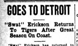 Goes To Detroit. November 11, 1917.