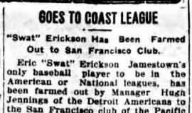 Goes To Coast League. July 18, 1916.