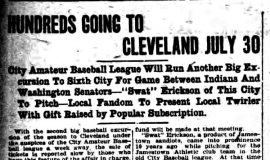 Hundreds Going To Cleveland July 30. July 22, 1922.