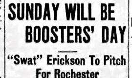 Sunday Will Be Boosters' Day. August 7, 1915.
