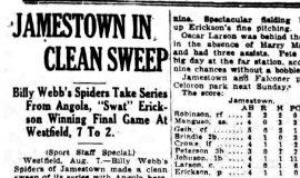Jamestown In Clean Sweep. August 7, 1925.