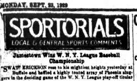 Sportorials. September 23, 1929.