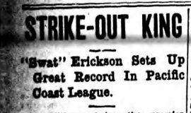Strike-Out King. September 26, 1917.