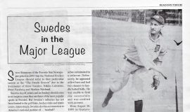 Swedes in the Major League.  April 1, 2021.