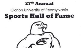 Clarion University Sports Hall of Fame induction program. May 1, 2015.