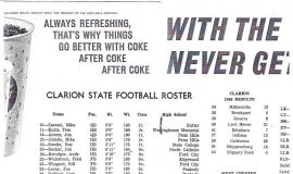 Clarion State College football program. 1966.
