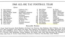 All-Sig Tau Football Team. 1968.