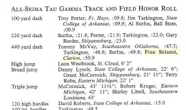 All Sigma Tau Gamma Track and Field Honor Roll. 1967.