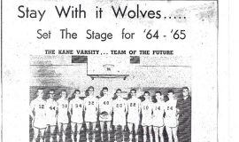 Kane basketball 1964-65.
