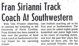 SWCS track coach