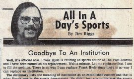 Goodbye To An Institution 12-1-79