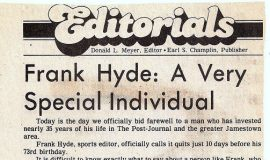 Frank Hyde: A Very Special Individual