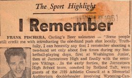 The Sport Highlight I Remember. March 18, 1961.