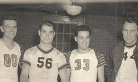 Bob Benson, Dante Lavelli, Frank Pischera, Lou Rymkus -Vkings v. Browns late 1940s
