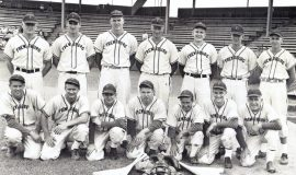 Gary Clark (3rd from left back row),  Chautauqua County baseball league.