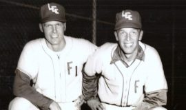 Gary Clark (on left) playing baseball for Fort Lee, 1958-60.