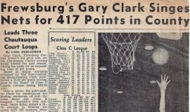Frewsburg's Gary Clark Singes Nets for 417 Points in County. 1952.