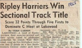 Ripley Harriers Win Sectional Track Title. 1953.