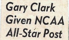 Gary Clark Given NCAA All-Star Post. 1957.